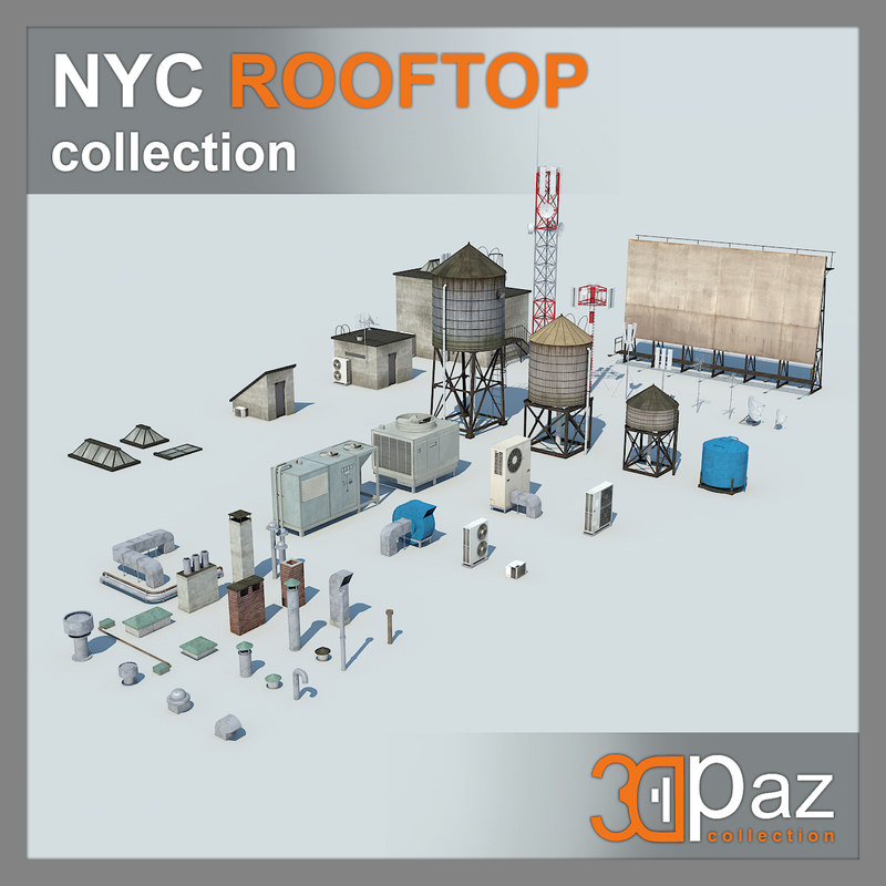 nyc roof rooftop 3d model