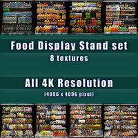 Food Display Stand Texture set [4K Texture]