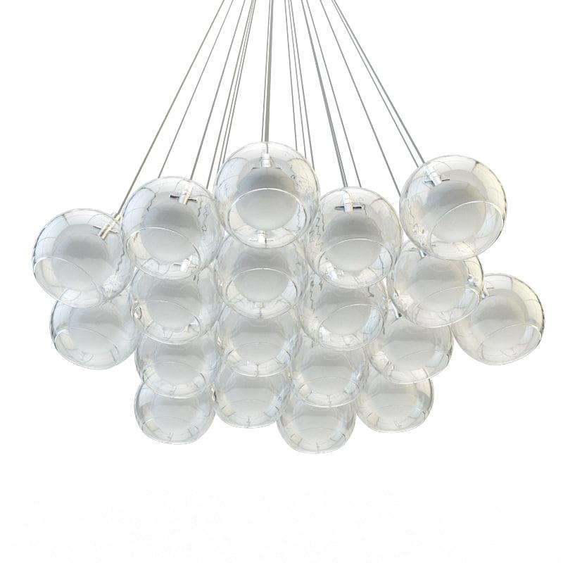 chandelier double alma light 3d model