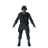 SWAT character (Rigged)