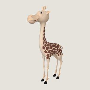 cartoon giraffe 3ds