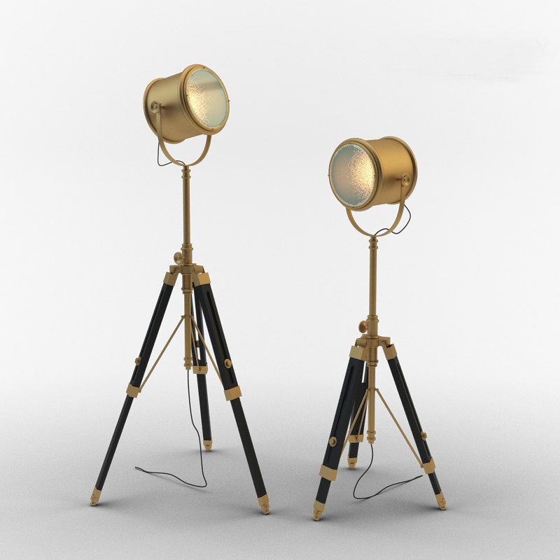 3d model floor lamp gramercy home