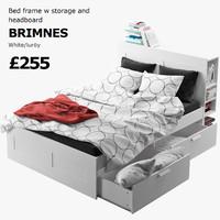 ikea brimnes bed frame 3d model