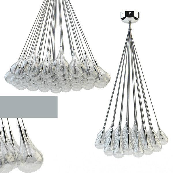 3d drop adjustable pendant lamp