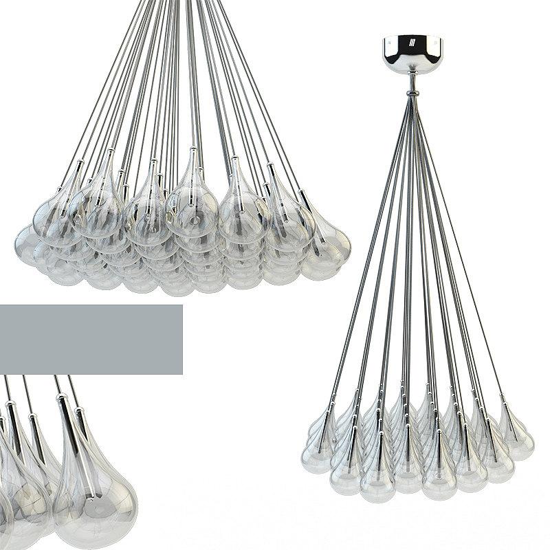 3d drop adjustable pendant lamp