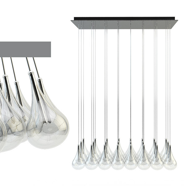drop pendant lamp alma 3d model