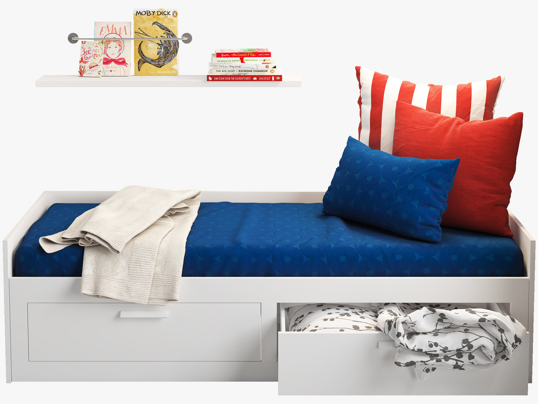 model ikea brimnes 2 bed