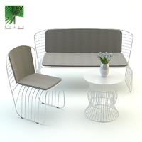 3d model garden furniture braid