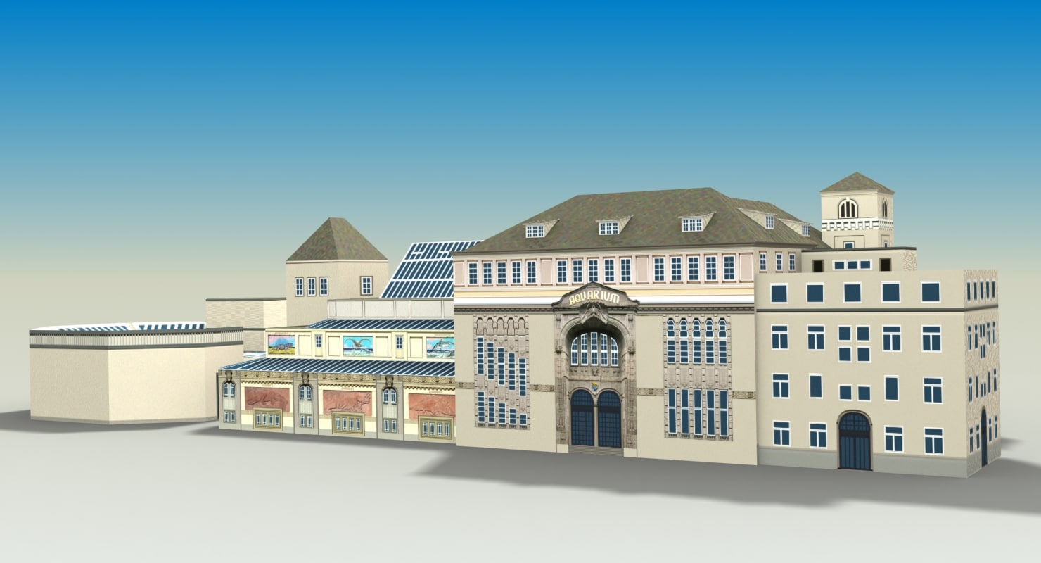 3d model aquarium berlin