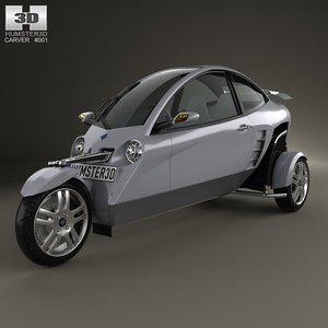 car 2007 carver 3d model