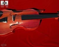 violin 3d model