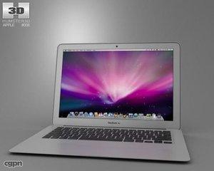 apple macbook air 3d model
