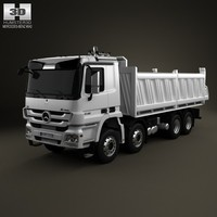 mercedes-benz actros tipper 3d 3ds