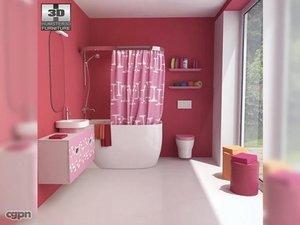 3ds bathroom 07 set bath