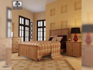3d model bedroom furniture 23 set