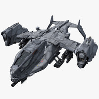 3d sf heavy dropship