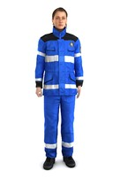 Realistic Animated Rigged Uniform Female Firewoman Character 4LOD