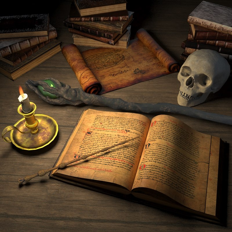 wizard table magical 3d model