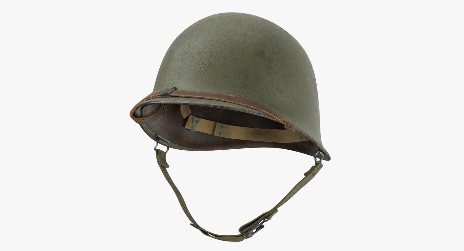 m1 combat helmet cover 3d model