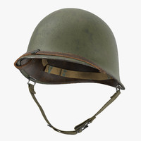 M1 Combat Helmet - Without Cover - Worn