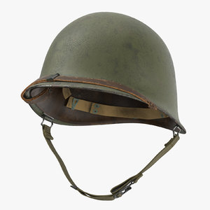 m1 combat helmet cover 3d model