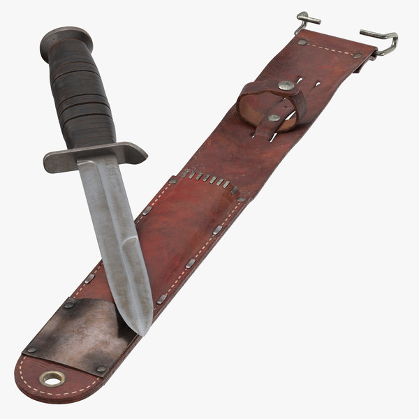 m3 trench knife wwii 3d model