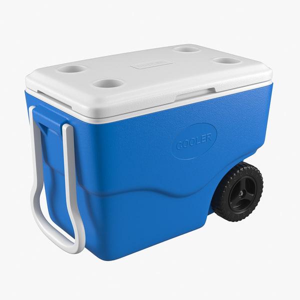3d model cooler box