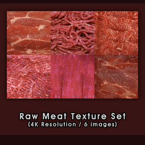 Raw Meats 6 image [4K Textures Set]