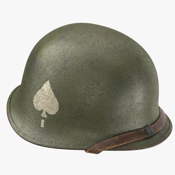 3d model 101st airborne helmet band