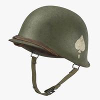 101st airborne helmet band 3d c4d