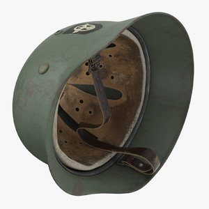 german wehrmacht helmet wwii 3d model
