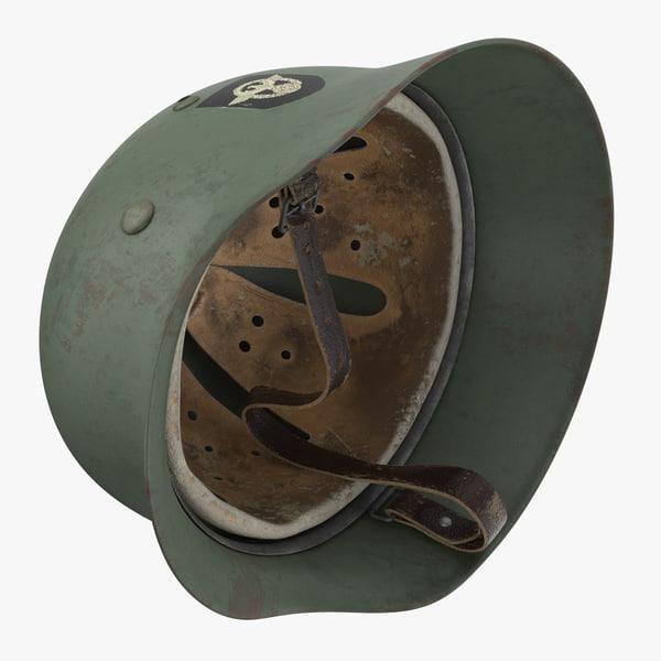 german wehrmacht helmet wwii 3d model
