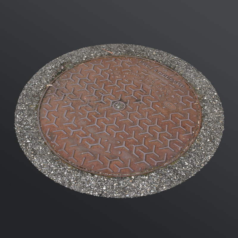 manhole cover 3d max