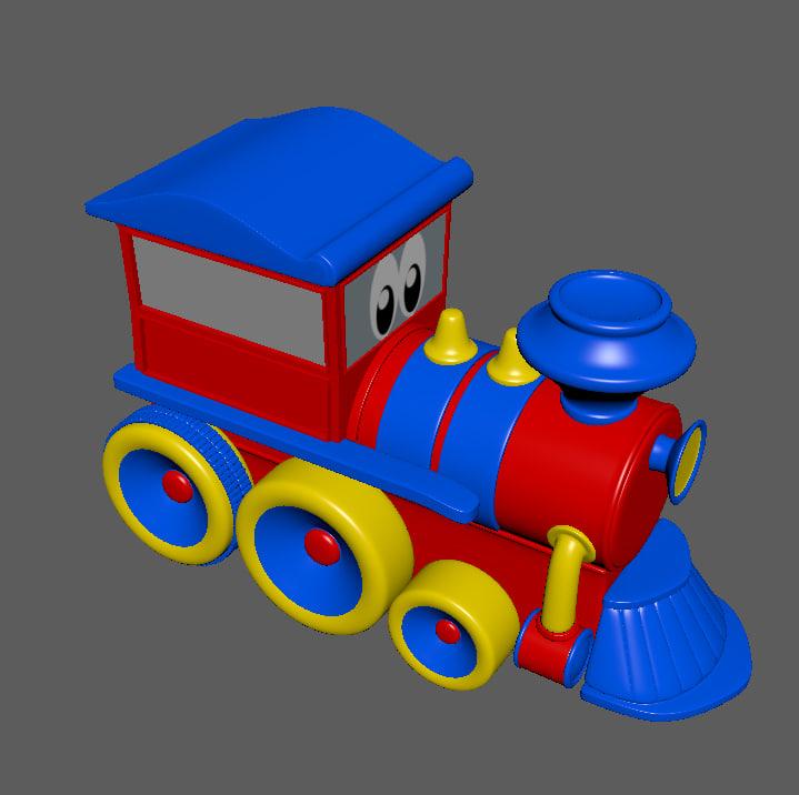 3d toys train