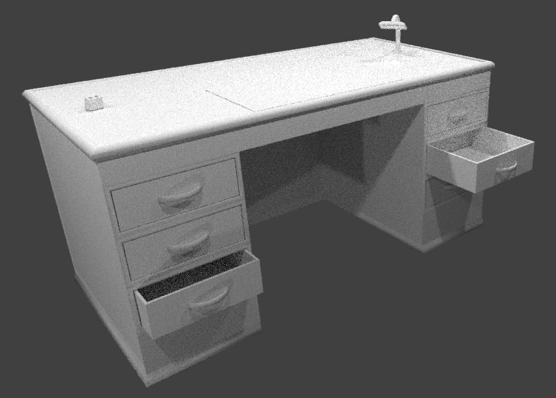 3d 3ds office desk