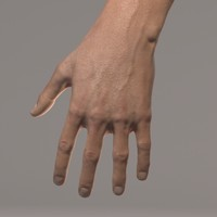 hands skin 3d max