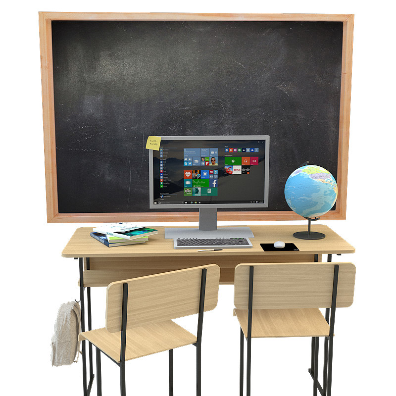3d model school set