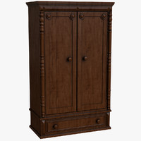 3d model old cupboard