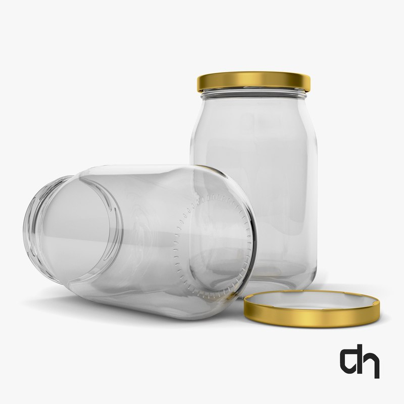 glass jar obj