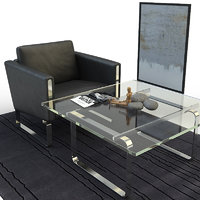 lounge chair coffee table 3d max