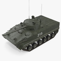 Russian Armored Vehicle BMP-3 Green