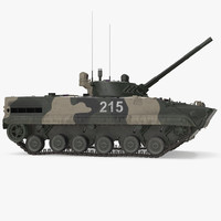 Infantry Fighting Vehicle BMP-3 Rigged 3D Model
