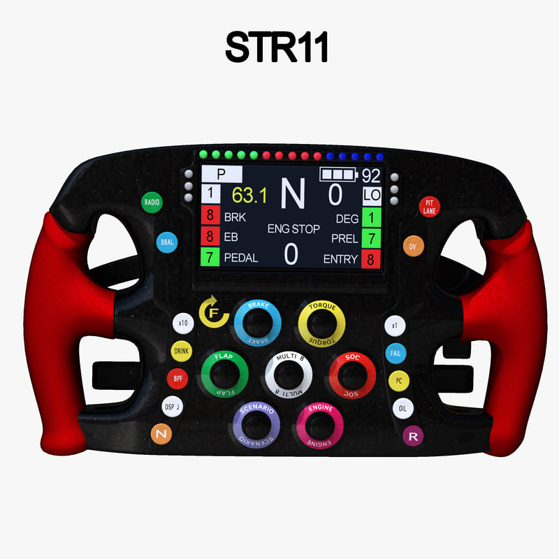 3D steering wheel 1 model
