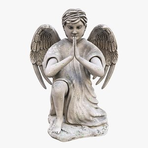 3D angel praying model