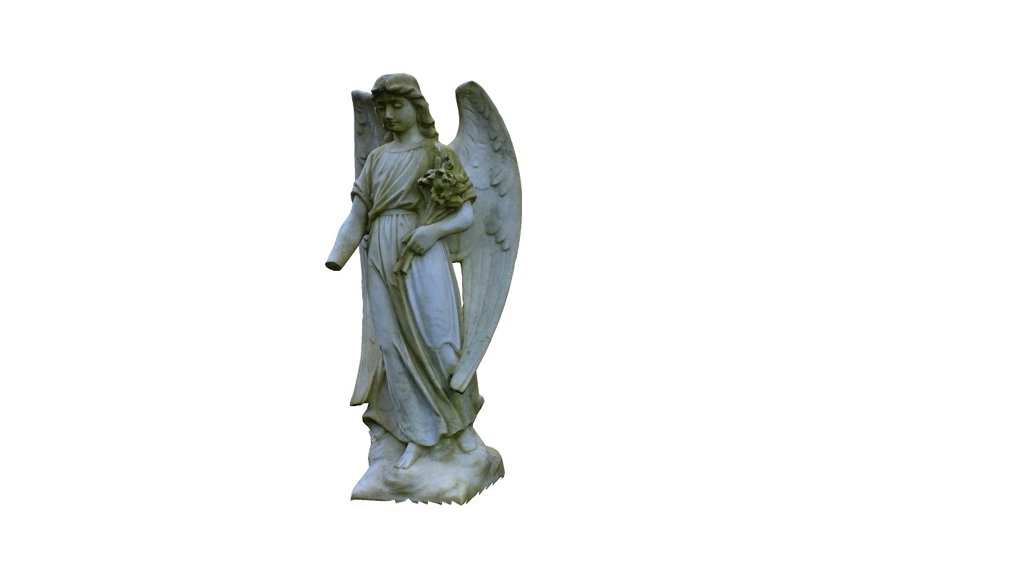 3D angel sculpture model