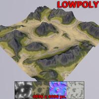 3D model games terrain
