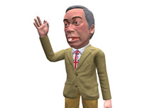 caricature nigel farage 3D model