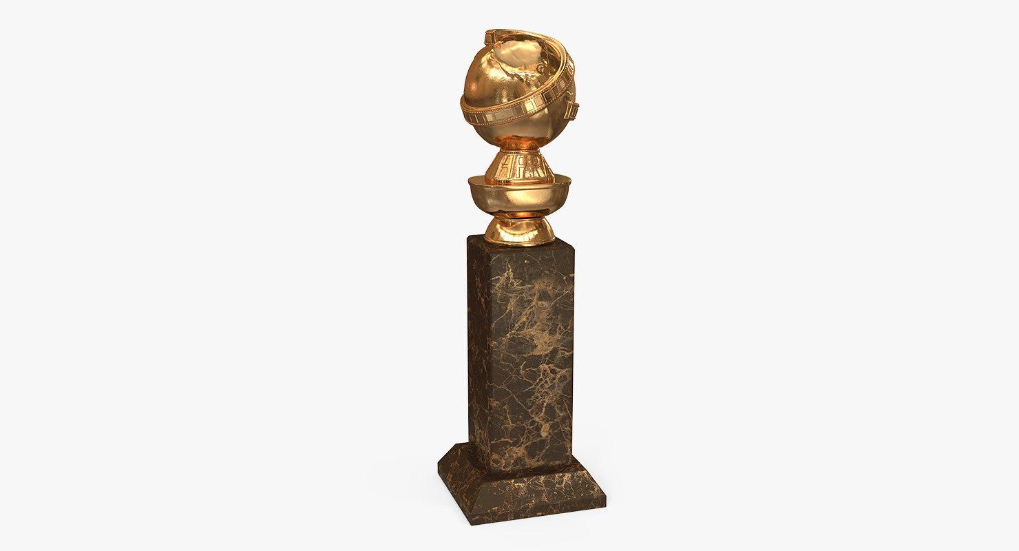3D golden globe award
