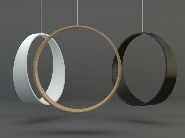 circle swing rocking chair 3D model