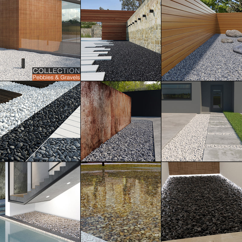 3D pebbles gravels pack model
